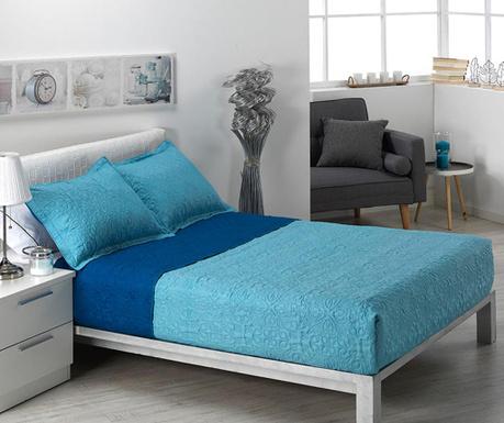 Zestaw pikowany na łóżko Double Alma Pattern Blue