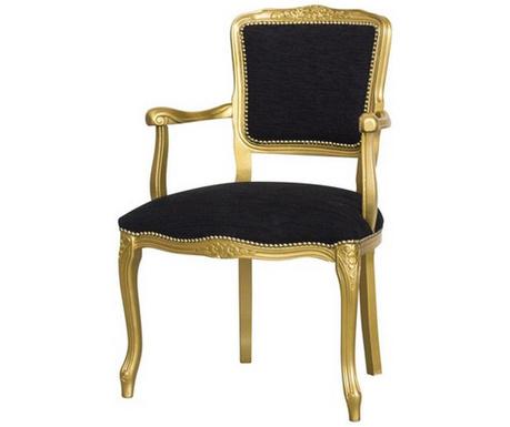 Scaun Diana Baroque Gold & Black