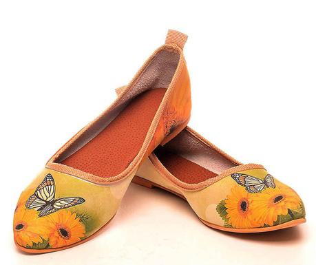 Ženske balerinke Butterfly Field