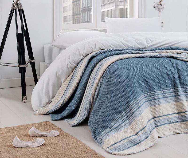 Deka Stripe Blue 180x220 cm