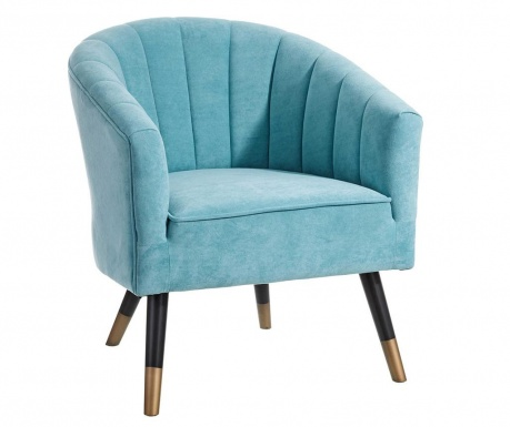 Fotel Glam Shell Interior Blue
