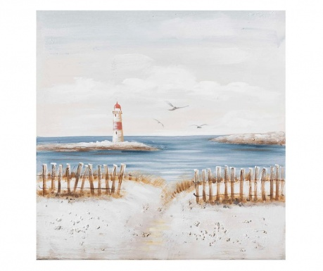 Obraz Coastal Lighthouse 80x80 cm