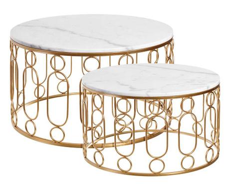 Rain Gold Wide 2 db Asztalka
