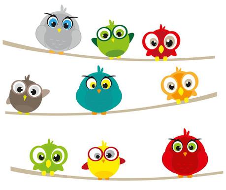 Samolepka Birds