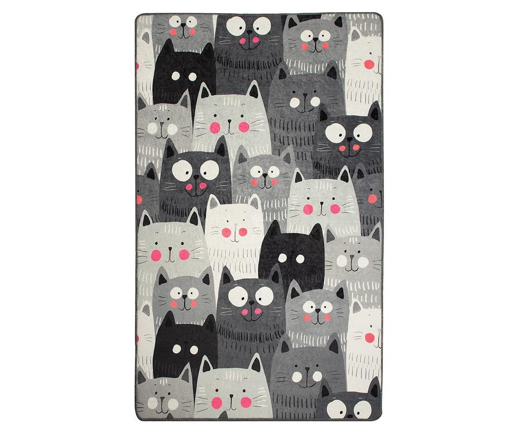 Cats Grey Szőnyeg 140x190 cm