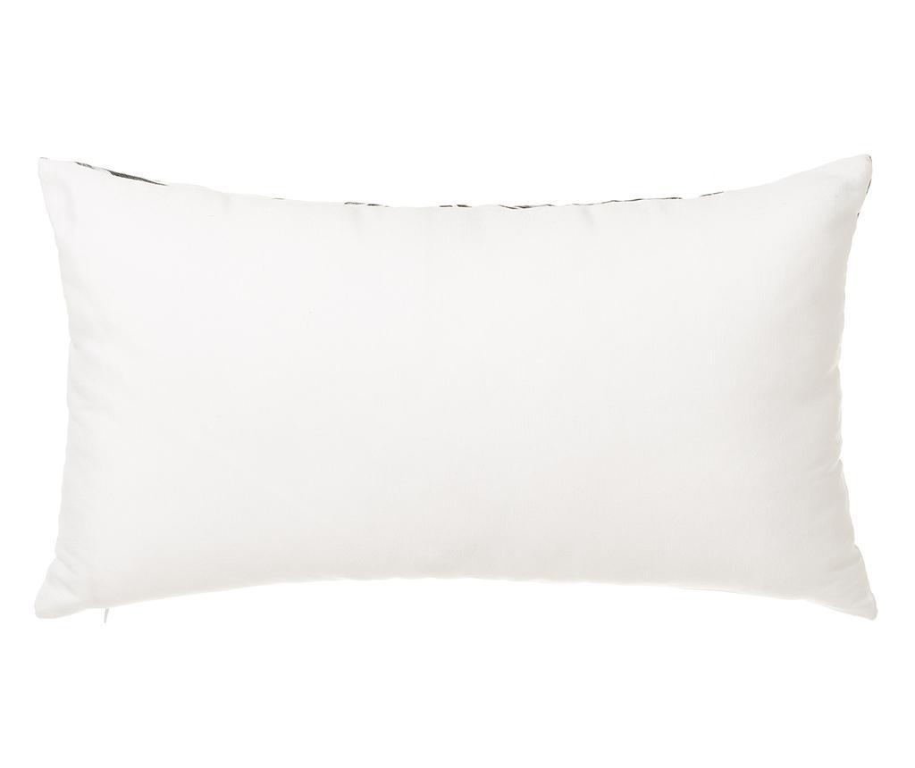 Sada 2 dekoračních polštářů Trellis Black White 30x50 cm