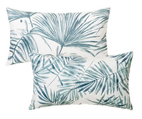 Σετ 2 διακοσμητικά μαξιλάρια Trellis Blue White 30x50 cm