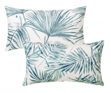 Set 2 ukrasna jastuka Trellis Blue White 30x50 cm