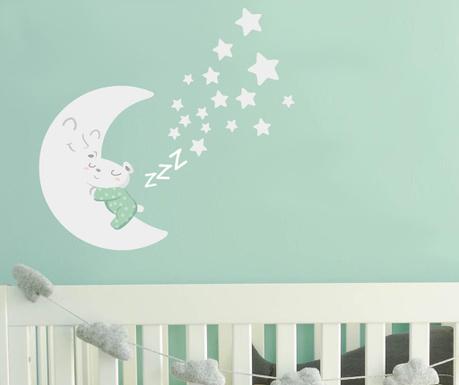 Samolepka Sleepy Moon Green