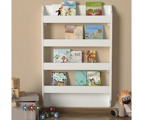 Stenski regal Drama Montessori White