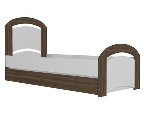 Výsuvný posteľný rám Viya Walnut