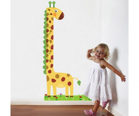 Samolepka na meranie výšky detí Giraffe