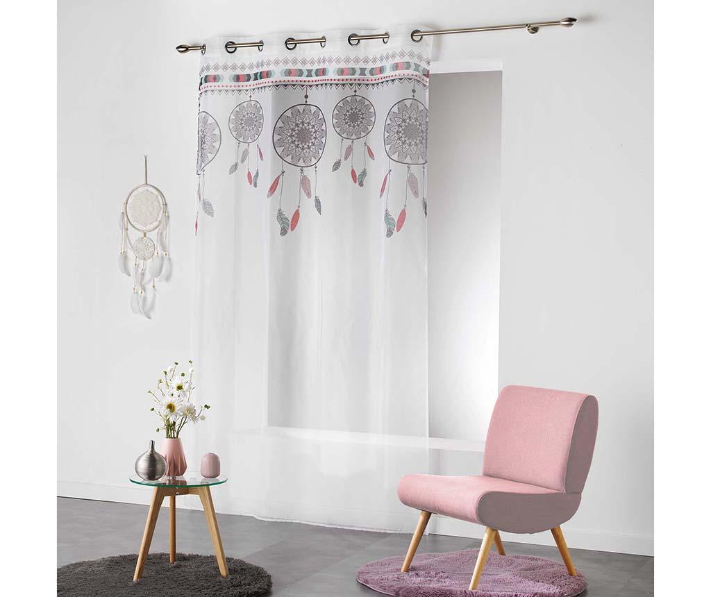 Zavjesa Indila White & Mint 140x240 cm