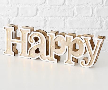 Svetlobna dekoracija Happy