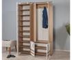 Set - garderobna omara in omara za čevlje Sihirli White