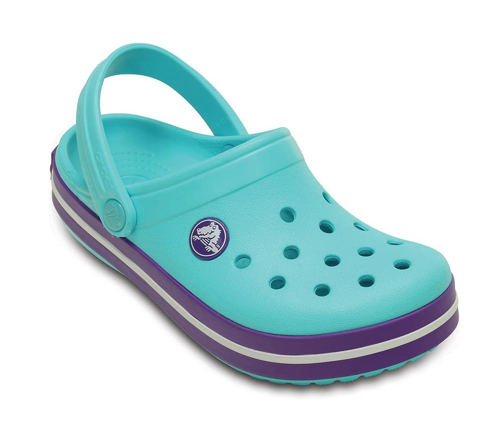 Otroške cokle Crocs Neon Purple 27-29