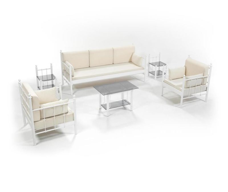 Set - vrtni dvosed in 3 vrtna fotelja Lalas Old White Beige
