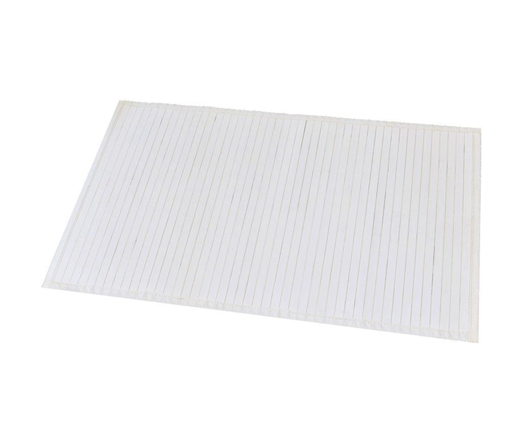 Předložka do koupelny Lines White 50x80 cm