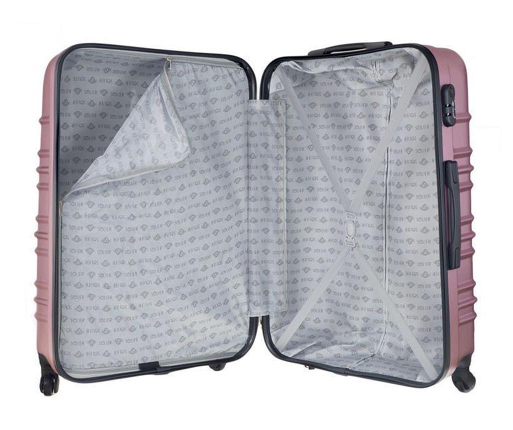 Kovček na kolesih Maeve Pink 55 L