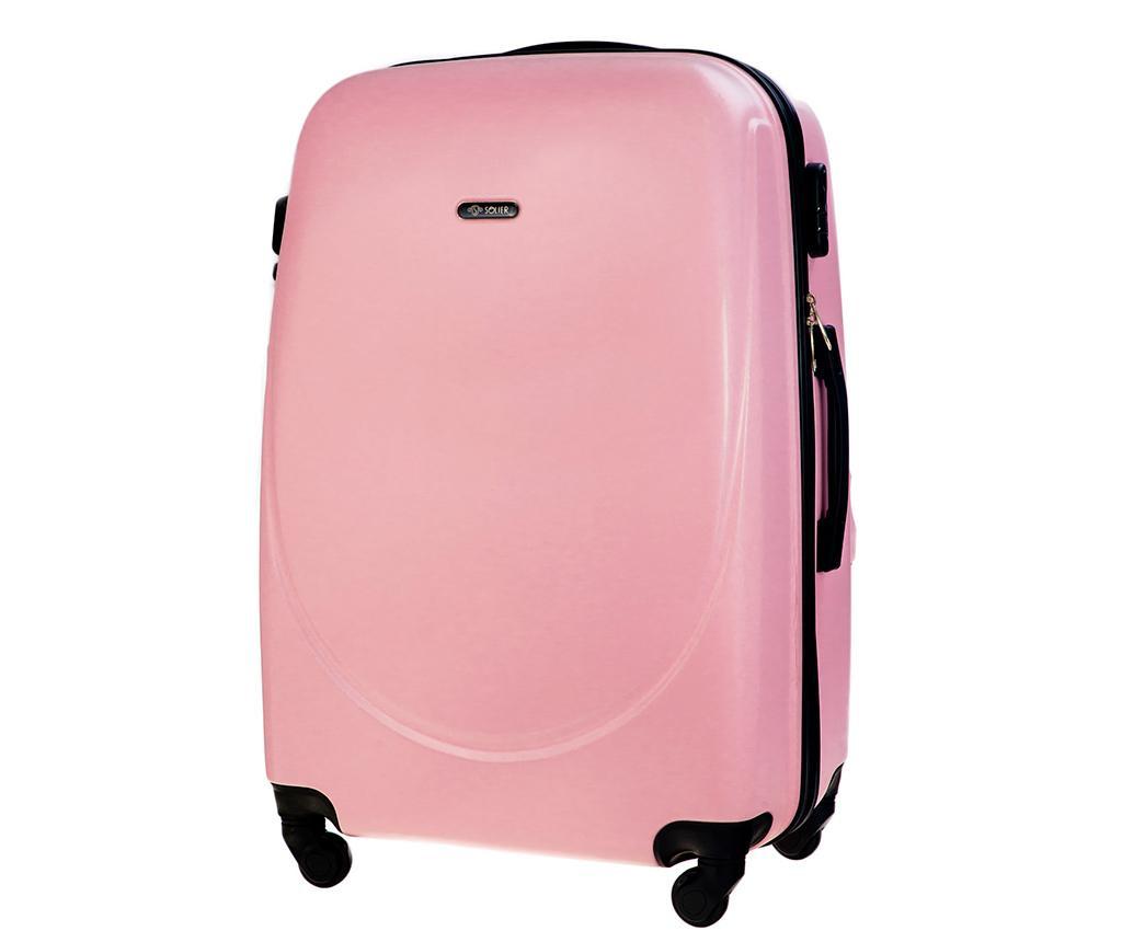 Kovček na kolesih Steady Pink 78 L