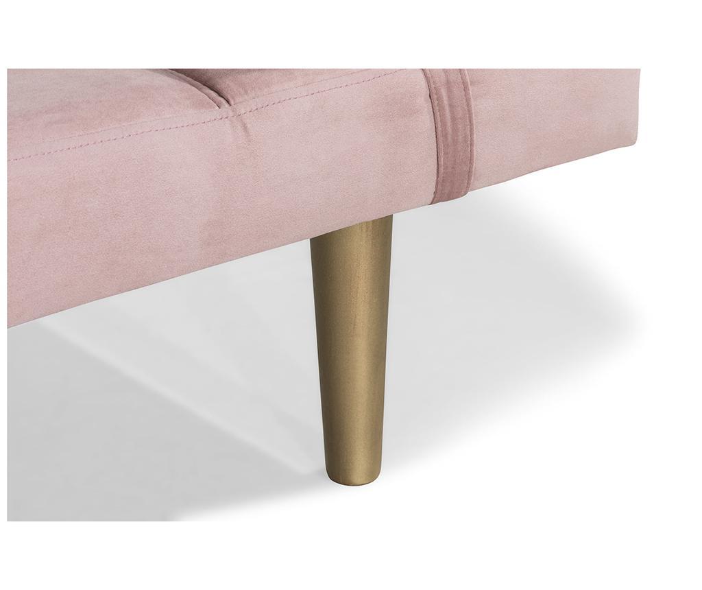 Ležaljka za dnevni boravak diYana Light Pink And Golden Legs