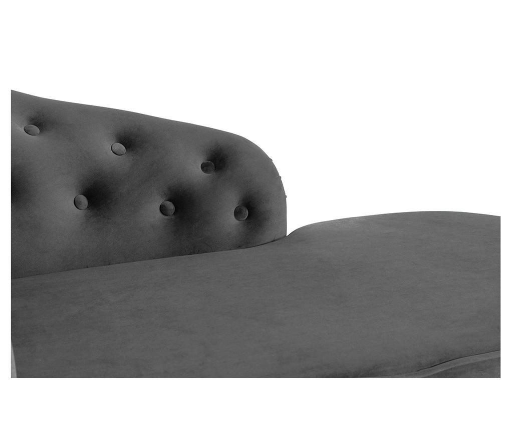 Desni počivalnik za dnevno sobo diYana Classic Dark Grey