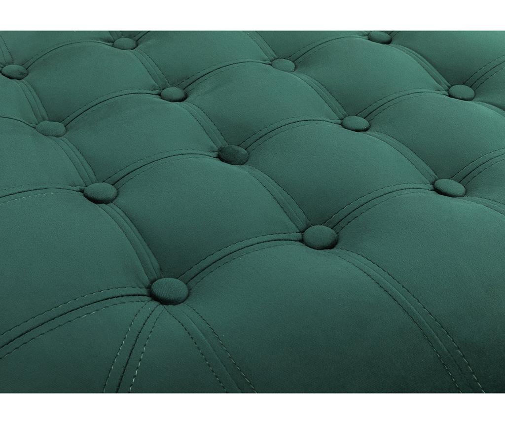 Chesterfield Round Dark Green Lábzsámoly