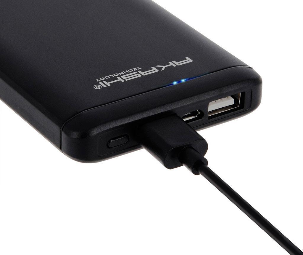 Baterie externa Akashi Slim Alum 2xUSB Black