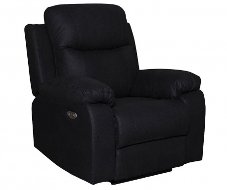 Fotoliu cu recliner Chicago Mozart Black