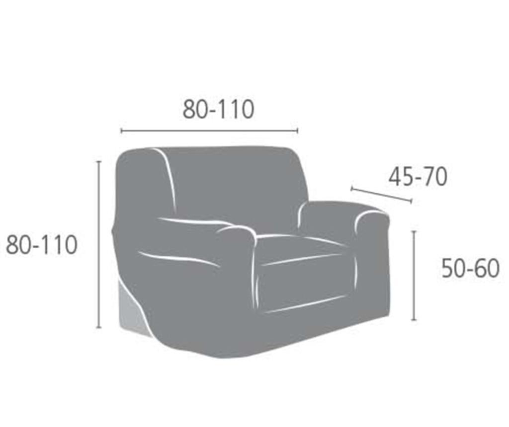 Elastična navlaka za fotelju Aquiles Grey 80-110 cm