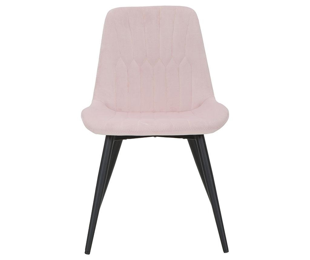 Stol Glam Pink Black Legs