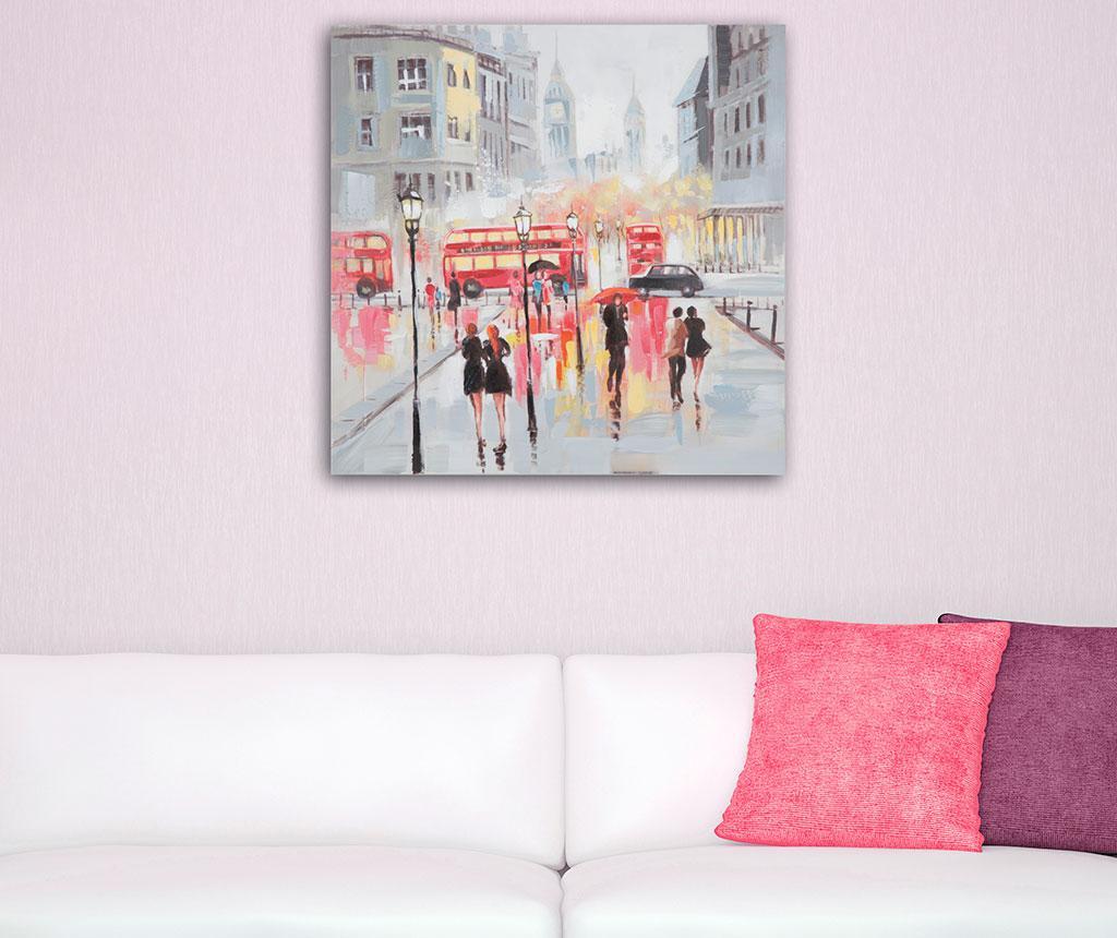 Tablou Rain London 100x100 cm