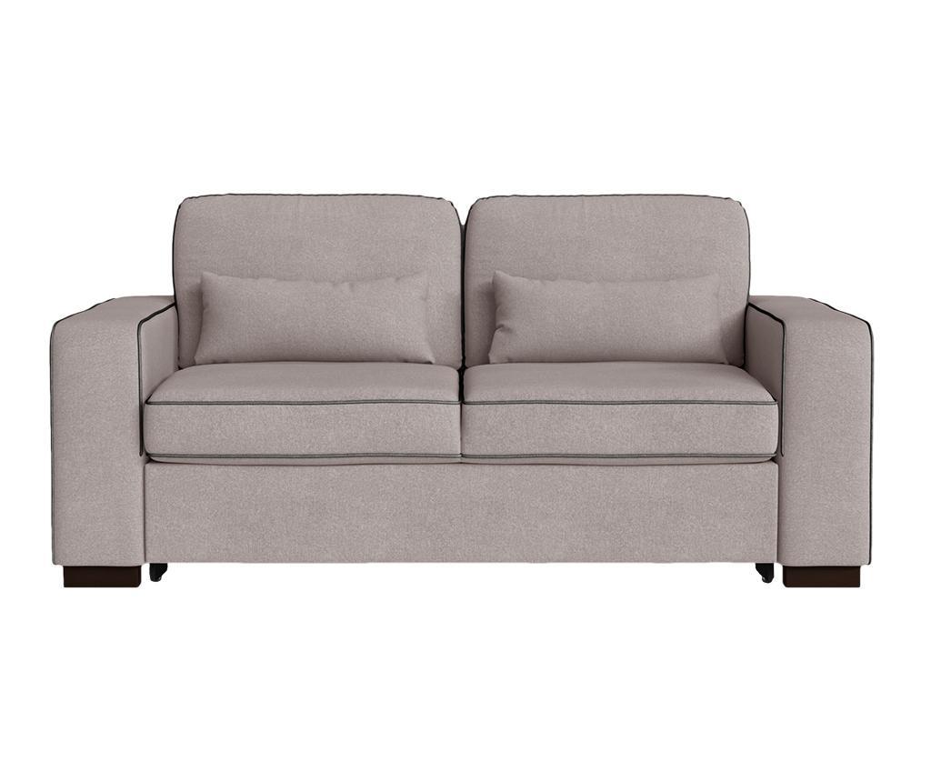 Katherine Powder Pink Anthracite Kétszemélyes kihúzható  kanapé
