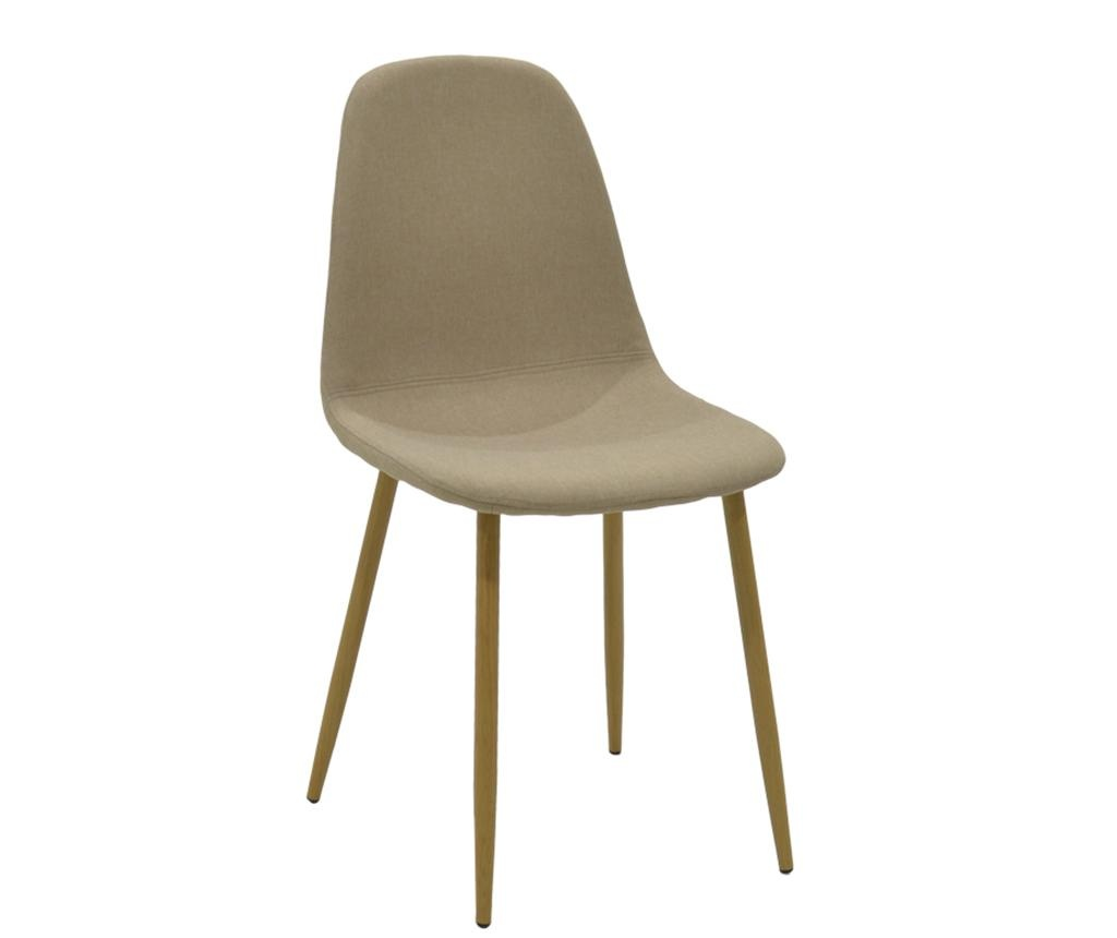 Stolica Bella Fabric Beige Oak Legs