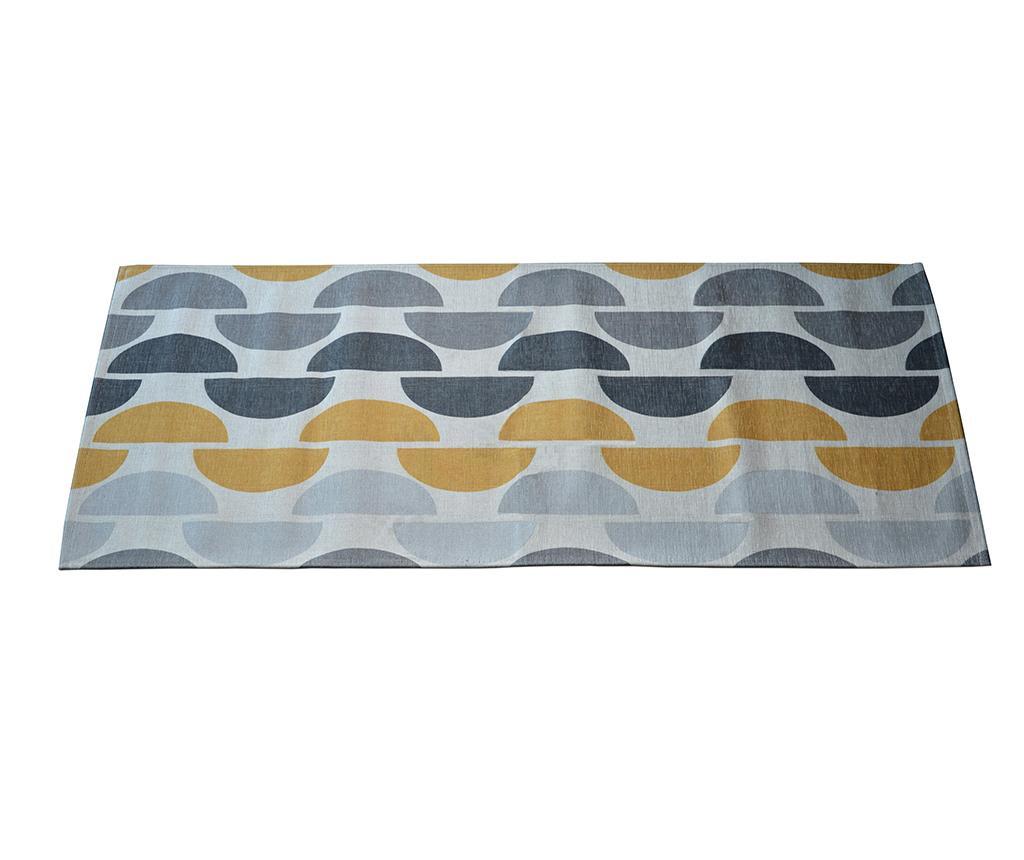 Preproga Halfmoon Grey Ochre 60x115 cm