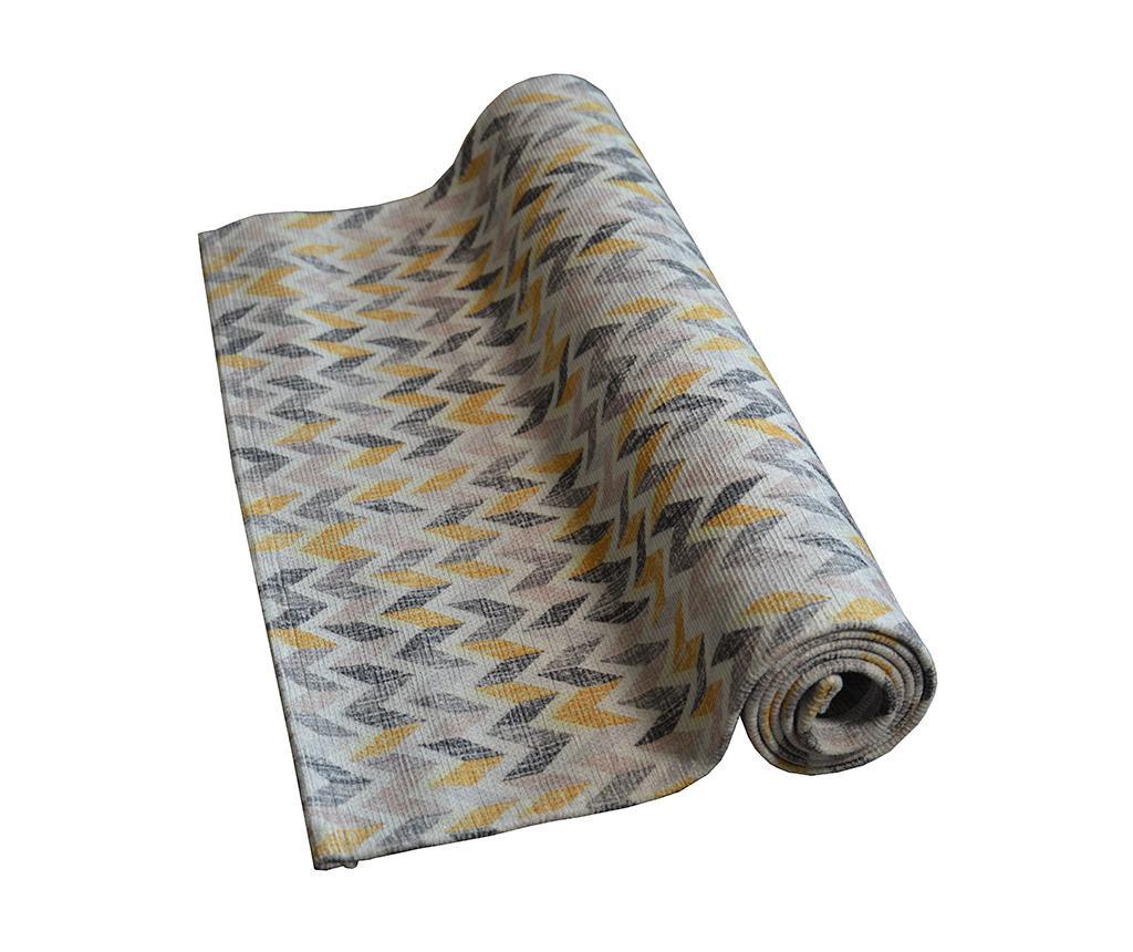 Preproga Knit Grey Ochre 60x115 cm