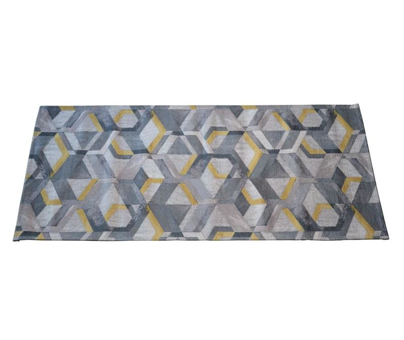 Preproga Retro Grey Ochre 60x115 cm