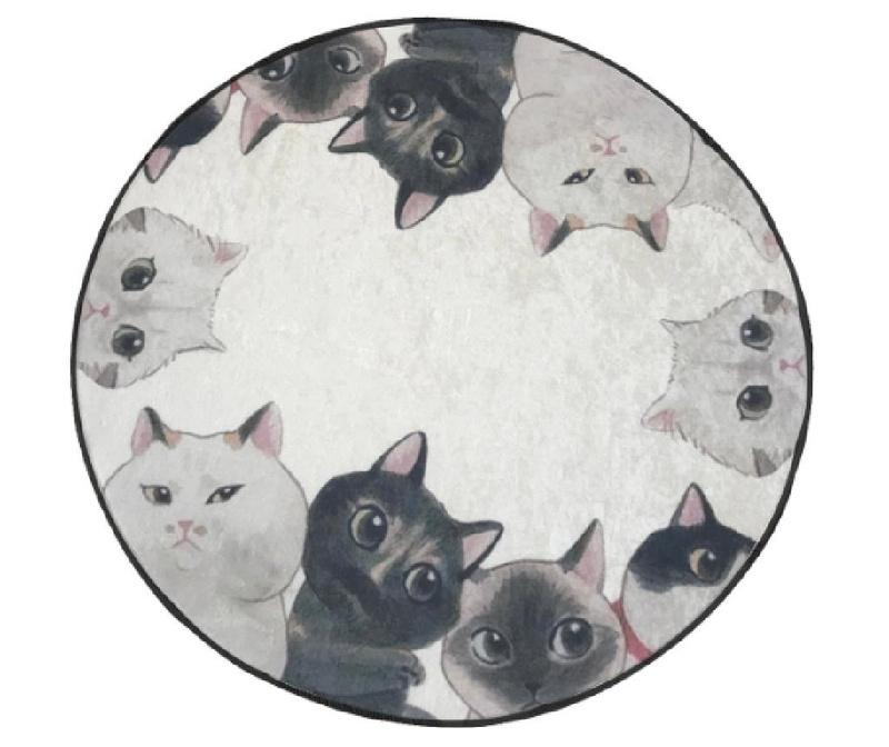 Curious Cats Fürdőszobai szőnyeg 100 cm