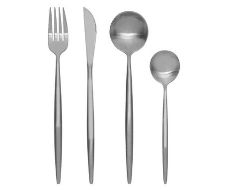 16-delni jedilni pribor Modern Retro Silver