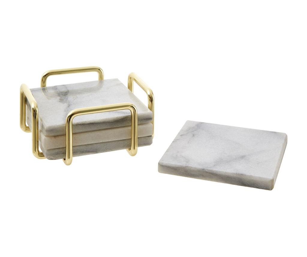 Set 4 coastere si suport Marble