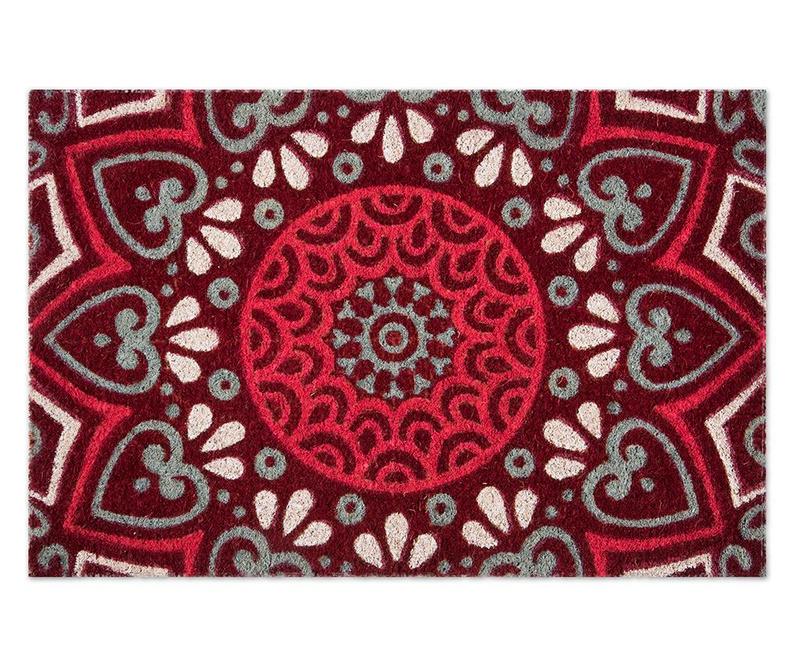 Covoras de intrare Mandala Red 40x60 cm