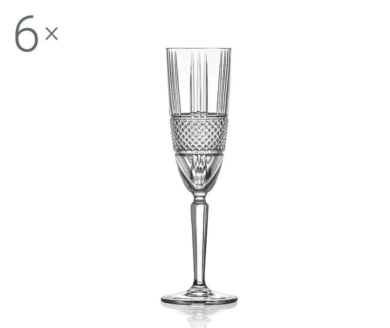 Set 6 čaša za pjenušac Brillante 190 ml