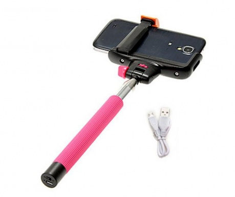 Selfie stick Bluetooth Mobile Pink