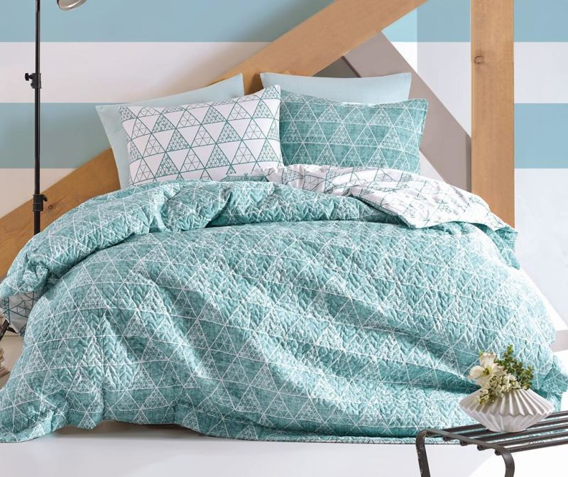 Set posteljina King Ranforce Equilatero Aqua
