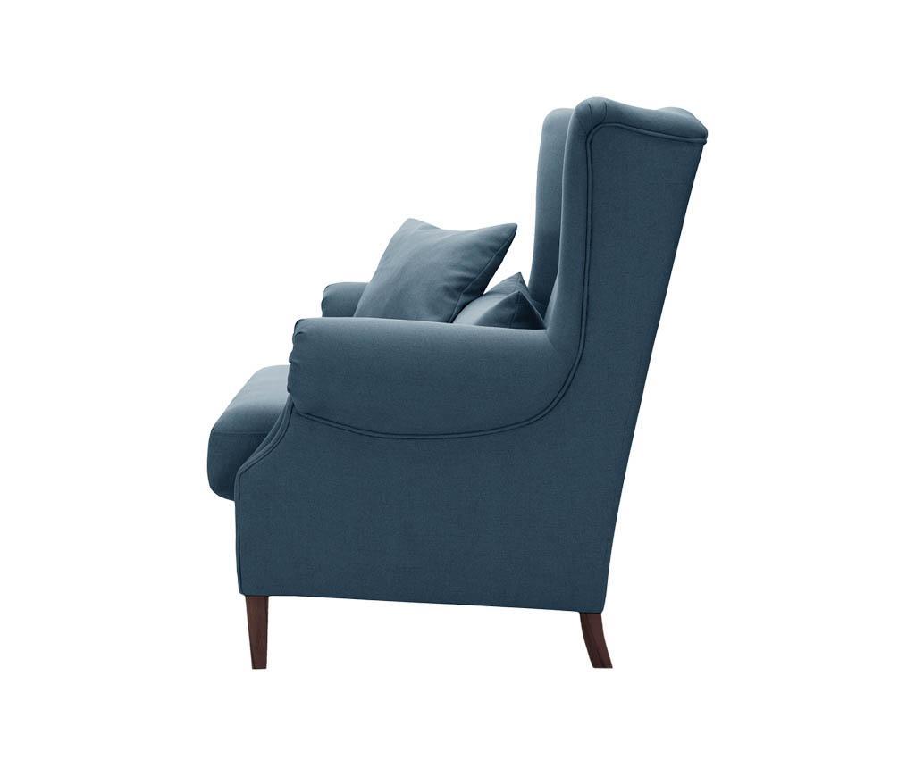 Canapea 2 locuri Alpaga Blue