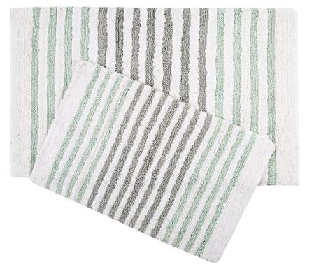Sada 2 kúpeľňových predložiek Grenada Green Grey