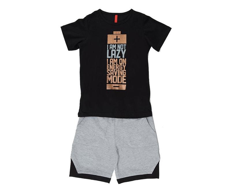 Otroški komplet - majica s kratkimi rokavi in hlače Saving Mode 4 let