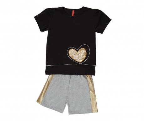 Otroški komplet - majica s kratkimi rokavi in hlače Golden Heart 5 let