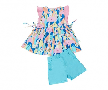 Sada tunika a nohavice pre deti Flamingo Gab