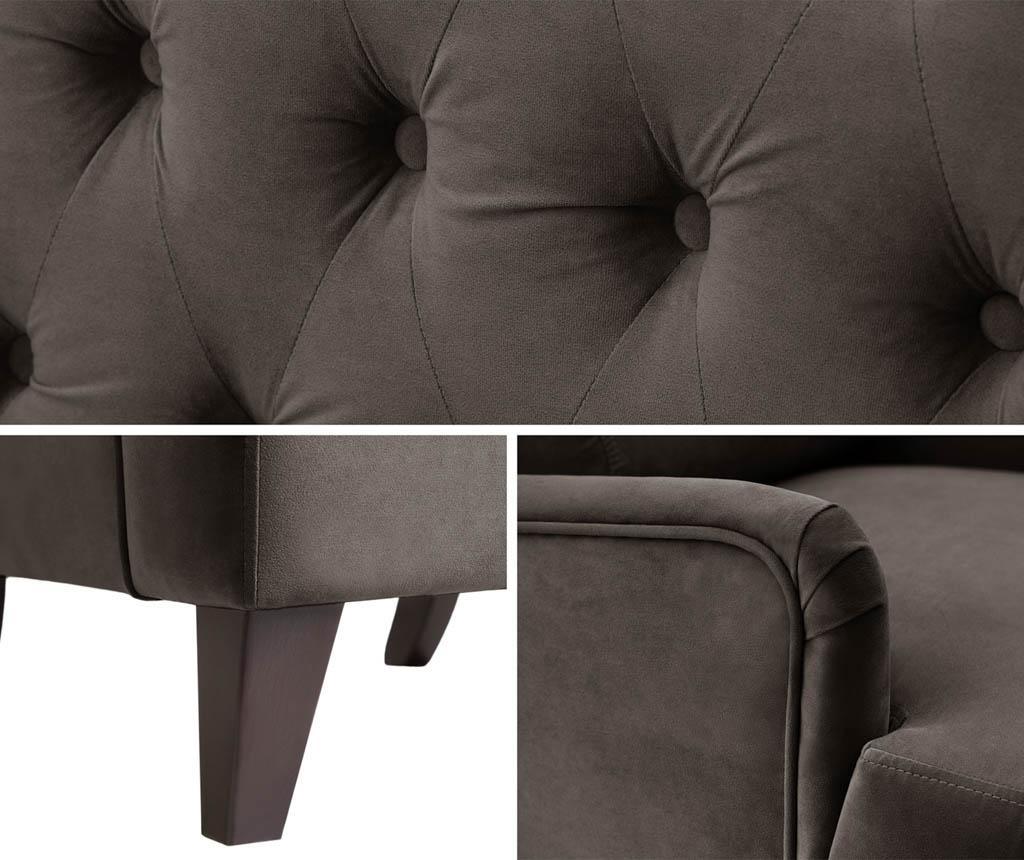 Canapea 2 locuri Flanelle Grey